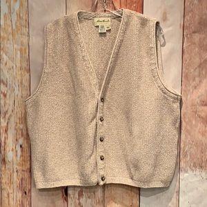 Oatmeal Eddie Bauer Sweater Vest Large